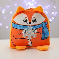 Рюкзак детский новогодний 'Лиса со снежинкой' 24х24 см