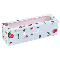 Коробка для макарун 'Жизнь прекрасна', 5.5 x 18 x 5.5 см (комплект из 5 шт.)