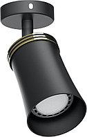 Cветильник настенно-потолочный под лампу Feron GU10, черный ML221