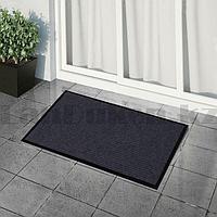 Грязезащитный придверный коврик на резиновой основе 60х40 см черный