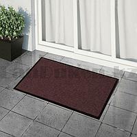 Грязезащитный придверный коврик на резиновой основе 60х40 см коричневый