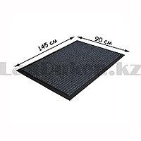 Грязезащитный придверный коврик на резиновой основе 145х90 см черный