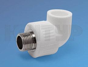 Угольник для полипролиленовых труб комбинированный  НР D25-3/4 PPR Контур