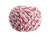 Шпагат хлопчатобумажный красно-белый клубочек 50 м