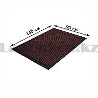 Грязезащитный придверный коврик на резиновой основе 145х90 см коричневый