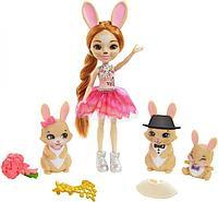 Кукла Enchantimals Royal Энчантималс Семья кролика Бристал GYJ08