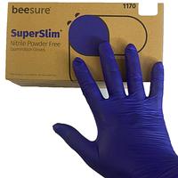 Перчатки одноразовые нитриловые SuperSlim, размер S. M. L, 100шт/50пар, цвет фиолетовый