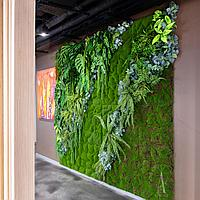 Вертикальное озеленение искусственными растениями