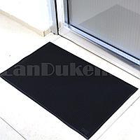 Грязезащитный придверный коврик резиновый с шипами 80х50 см черный