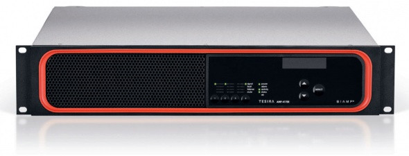 Цифровой усилитель, 4 канала по 175 Вт на 4/8 Ом. Подключение аудиосигналов через интерфейс AVB/TSN