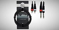 Кабель - 1,5м Alpha Audio Basic Line 2 штекера 6.3 мм mono jack - 2 штекера 6,3 мм