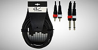Кабель Alpha Audio Basic Line 2 моноджек 6,3 мм Х 2 RCA (тюльпан) 3 м