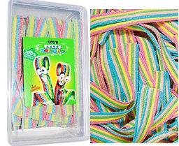 Damla Sour belt Rainbow raduga язычки Разноцветные (кислые) 1кг