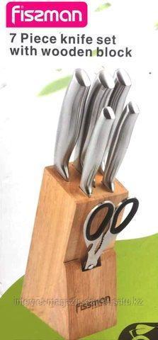 Набор кухонных ножей на подставке Fissman 7 предметов.