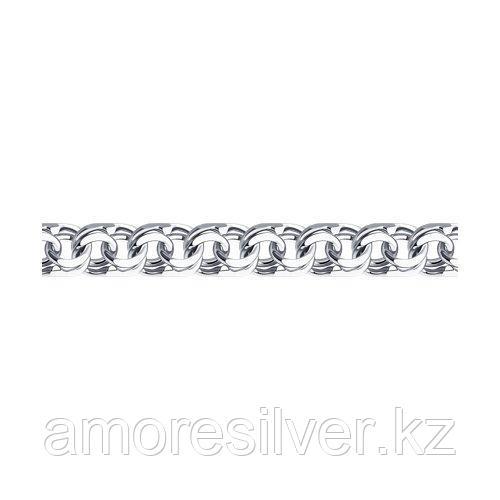 Браслет SOKOLOV серебро с родием, без вставок, бисмарк 965141504 размеры - 19 20 22 23