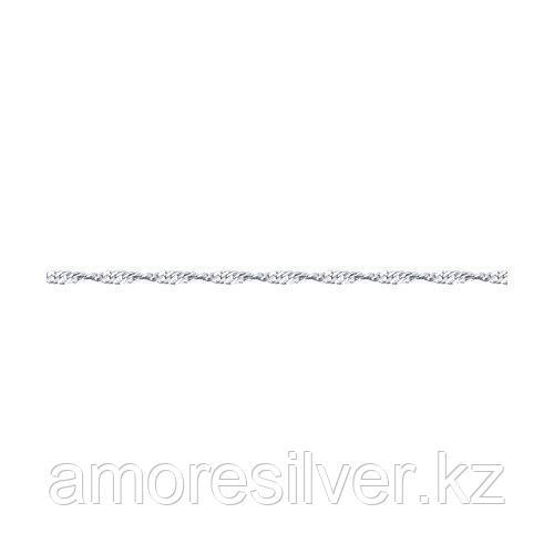 Браслет SOKOLOV серебро с родием, без вставок, сингапур 965090402 размеры - 18