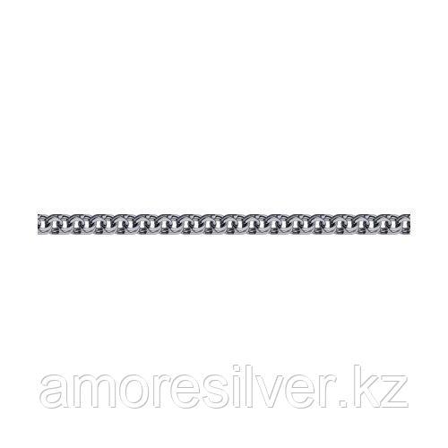 Браслет SOKOLOV из черненного серебра, без вставок, бисмарк 995140604 размеры - 17 18 19 20