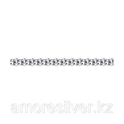 Браслет SOKOLOV серебро с родием, без вставок, версаль 965290604 размеры - 18 20 21