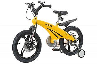 """Детский велосипед Miqilong GN - 16"""" Жёлтый"""