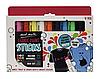 Набор цветных карандашей для ткани Mont Marte 9 цветов по 5 г