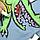 Набор цветных карандашей для ткани Mont Marte 9 цветов по 5 г, фото 5
