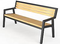 Скамейки для парка, скамья уличная со спинкой