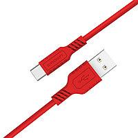Кабель Crown USB - USB Type-C CMCU-002C red