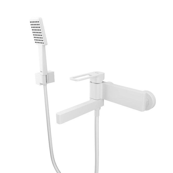 Смеситель IDDIS Slide для ванны, белый матовый