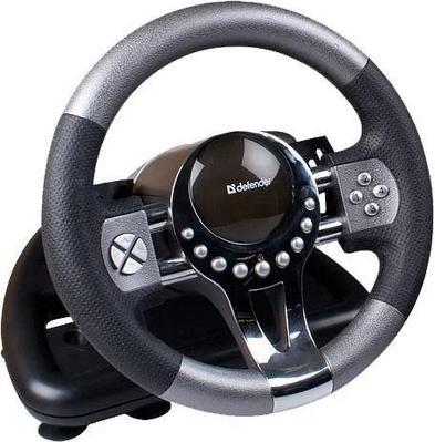 Игровой руль Defender Forsage GTR USB, 12 кнопок, рычаг передач, черный