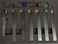 Набор резцов с мех.креплением пластин, сечение 25х25 мм, 7 шт.