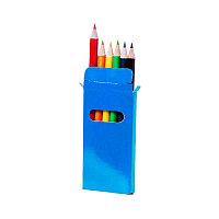Набор цветных карандашей GARTEN (6шт.), синий, 5 x 9.3 x 0.8 см, дерево, картон, Синий, -, 349830 24