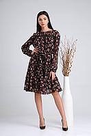 Женское осеннее шифоновое нарядное платье Verita 2126 50р.