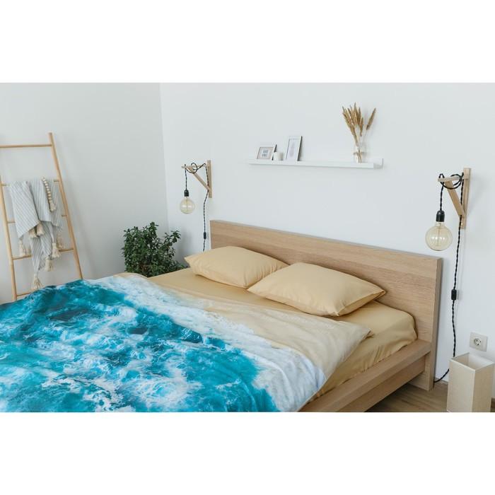 Постельное бельё 'Этель' евро Морская волна 200х217 см, 260*240 см, 50х70 см - 2 шт - фото 7