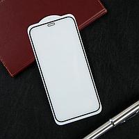 """Защитное стекло Krutoff, для iPhone 12 mini (5.4""""), полный клей, черная рамка"""