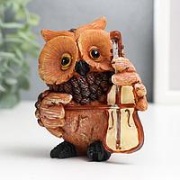 Фигурка 'Сова с виолончелью' 7x6x9 см