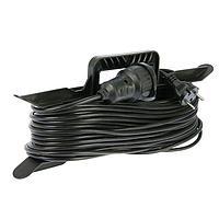 Удлинитель на каркасе TUNDRA, 1 розетка, 30 м, 6 А, ПВС 2х0.75 мм2, без з/к, IP44, ГОСТ