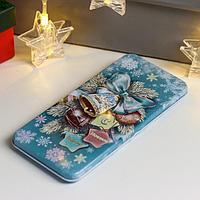 Подарочная коробочка для денег 'Новогодние игрушки' 16,6х7,6х1см