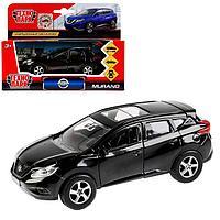 Машина металлическая, инерционная 'Nissan Murano' чёрный, 12 см, открывающиеся двери
