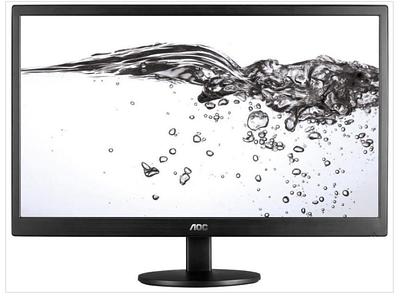 """Монитор 23.6"""" AOC E2470SWDA/01 TFT TN 5мс 250cd/m2 1000:1 100M:1 1xD-Sub 1xDVI 2x2W Черный"""