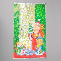 Пакет подарочный 'Снеговик-затейник', 30 х 50 см (комплект из 100 шт.)