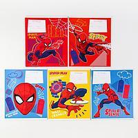 Тетрадь 12 листов, клетка, Человек-паук (комплект из 20 шт.)