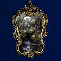 Зеркало с консольным столиком в стиле Неорококо. Италия. Середина ХХ века Бронза, литье, натуральный камень