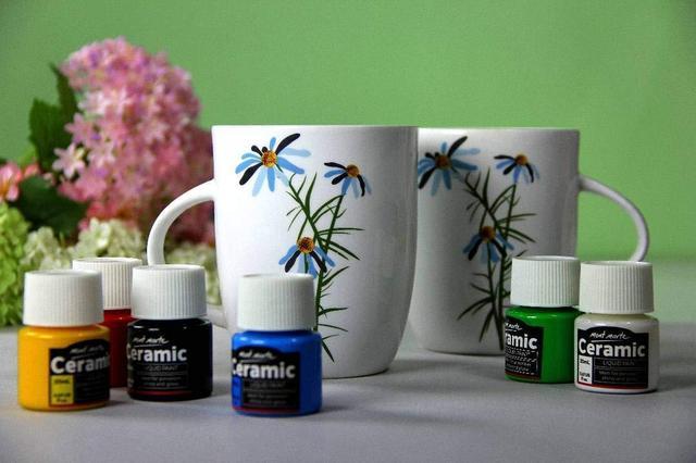 Краски для керамики, фарфора, стекла