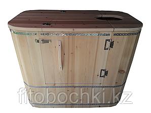 """Кедровая фитобочка """"Релакс"""" 1050 (Н) х 700(В) х 1350-1400 (L)* 40 мм."""