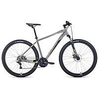 """Велосипед 29"""" Forward Apache 2.2 disc, 2021, цвет серый/бежевый, размер 19"""""""