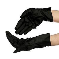 Перчатки одноразовые VINYLTEP PREMIUM, черные, размер S, 100 шт