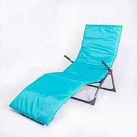Подушка-матрас водоотталкивающ., бирюзовый, 190х60х3,5 см.