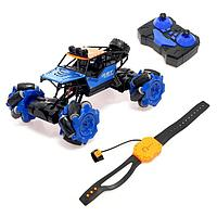 Машина радиоуправляемая «Джип-акробат», 4WD, управление жестами, работает от аккумулятора, цвет синий
