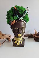 Скульптурное кашпо Африканка