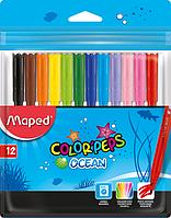Фломастеры Maped Colorpeps наборы 12, 18, 24 цвета